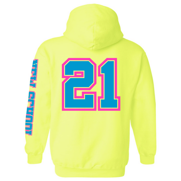 Wild 'N Out Neon Yellow New School Hooded Sweatshirt