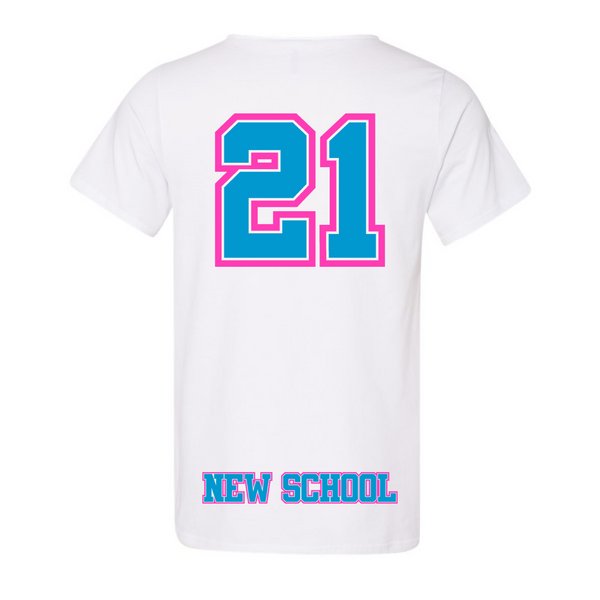 Wild 'N Out Neon New School Raw Neck Adult T-Shirt