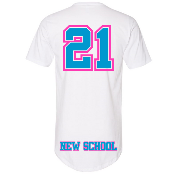 Wild 'N Out Neon New School Long Body Adult Short Sleeve T-Shirt