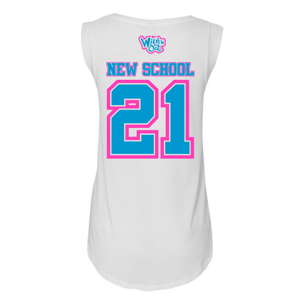 Wild 'N Out Neon New School Women's Cap Sleeve T-Shirt