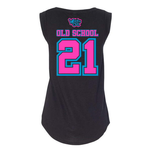 Wild 'N Out Neon Old School Women's Cap Sleeve T-Shirt