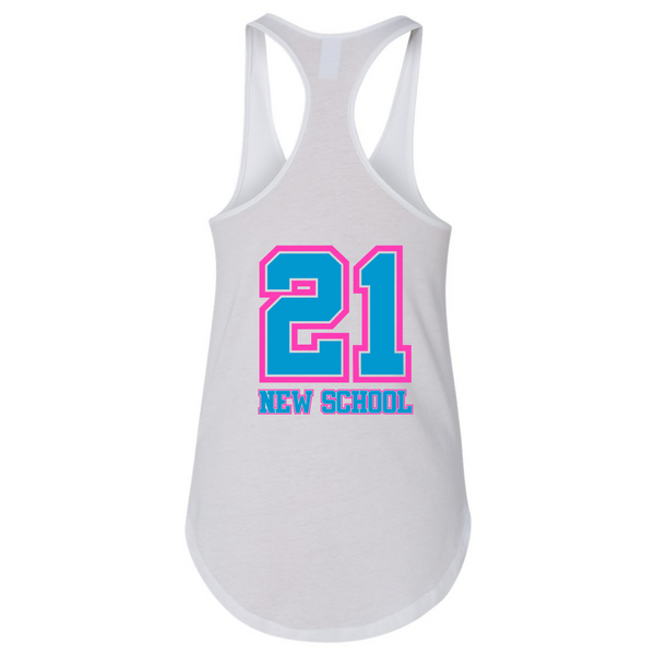 Wild 'N Out Neon New School Women's Racerback Tank