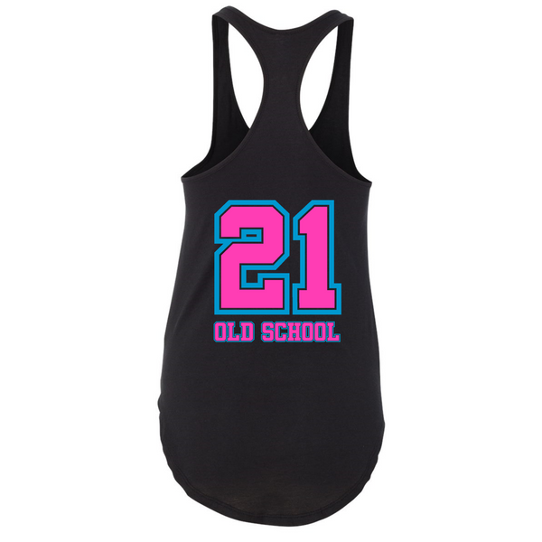 Wild 'N Out Neon Old School Women's Racerback Tank