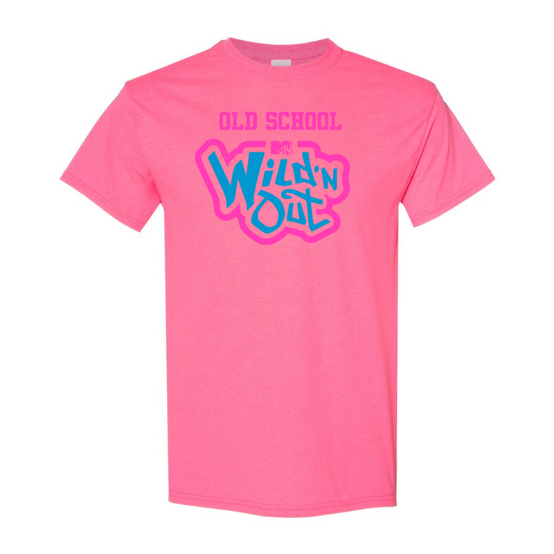 Wild 'N Out Neon Pink Old School Adult Short Sleeve T-Shirt