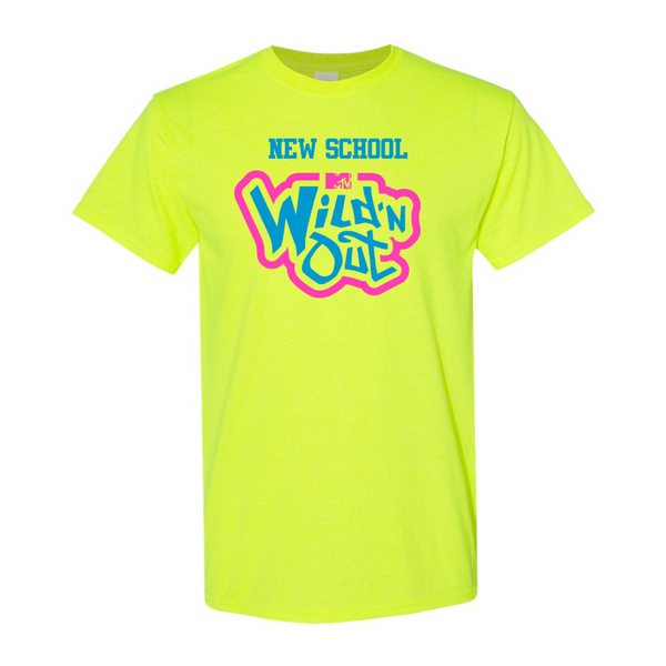 Wild 'N Out Neon Yellow New School Adult Short Sleeve T-Shirt