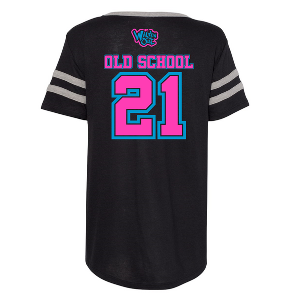 Wild 'N Out Neon Logo Women's Black Varsity T-Shirt