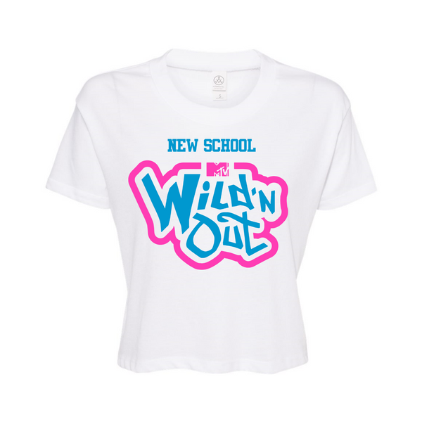 Wild 'N Out Neon Women's New School Cropped T-Shirt
