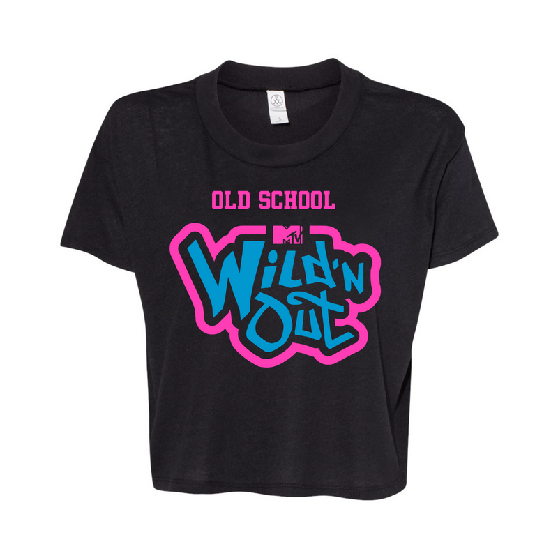 Wild 'N Out Neon Women's Old School Cropped T-Shirt