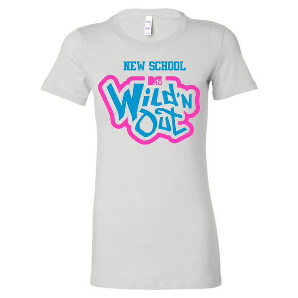 Wild 'N Out Neon New School Women's Long Body Short Sleeve T-Shirt