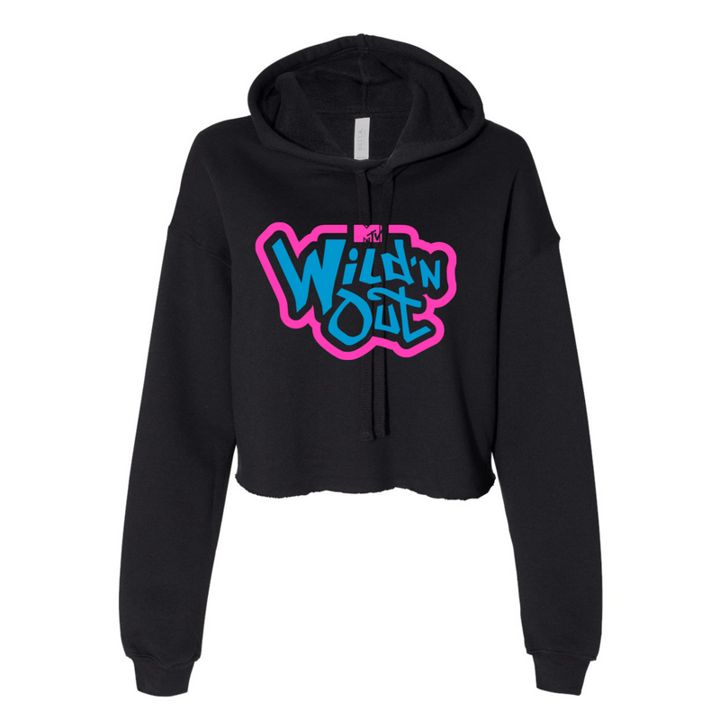 Wild 'N Out Neon Old School Women's Crop Fleece Hoodie