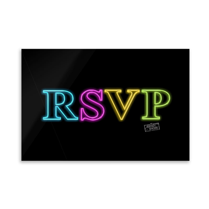 Jersey Shore Family Vacation RSVP Acrylic Wall Art