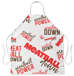 Jersey Shore Family Vacation Meatball Collage Apron