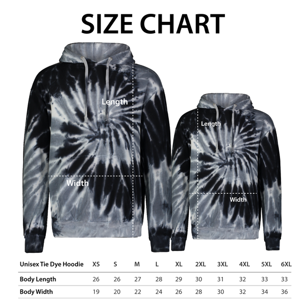 Wild 'N Out Blue Tie Dye Hooded Sweatshirt