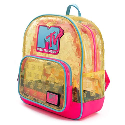 Loungefly X MTV Clear Neon PVC Mini Backpack