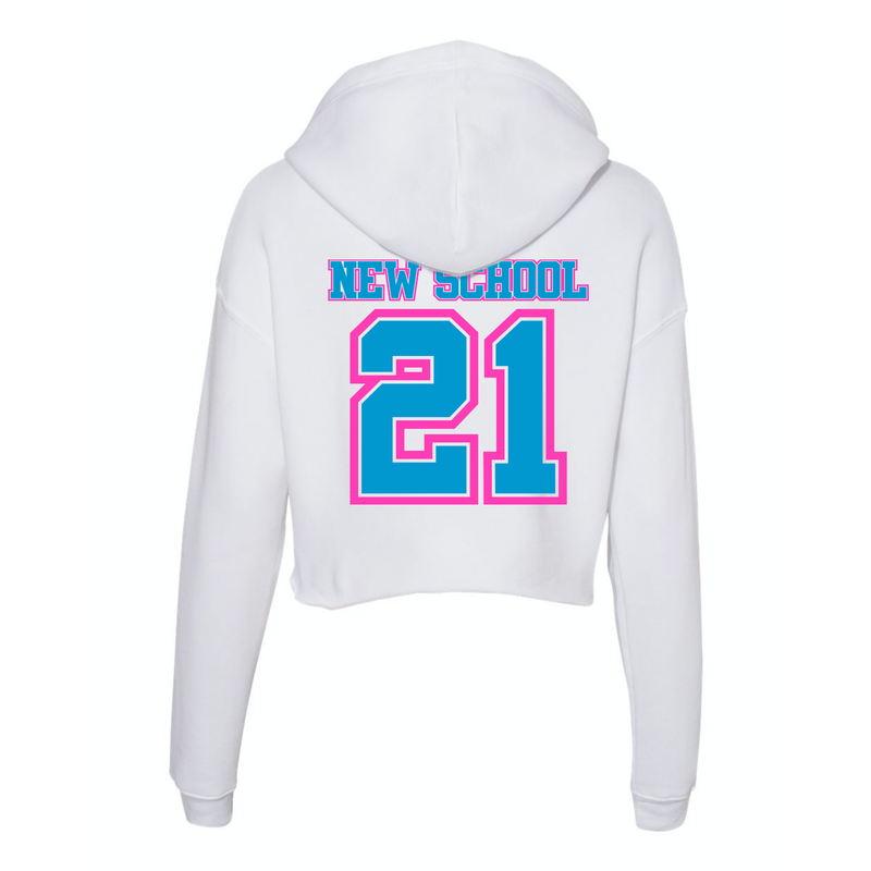 Wild 'N Out Neon Women's New School Crop Fleece Hoodie