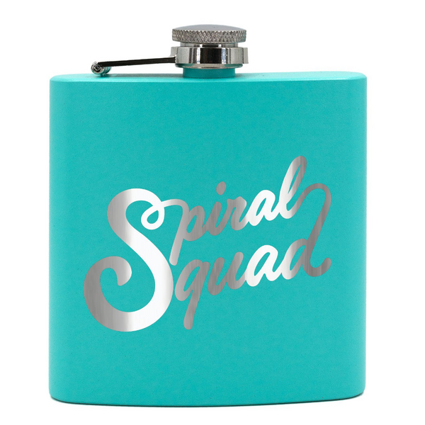 Jersey Shore Family Vacation Spiral Squad Stainless Steel Flask