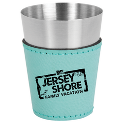 Jersey Shore Family Vacation Leatherette & Stainless Steel Shot Glass