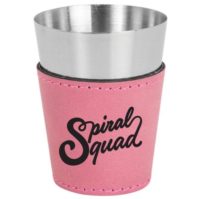 Jersey Shore Family Vacation Spiral Squad Leatherette & Stainless Steel Shot Glass