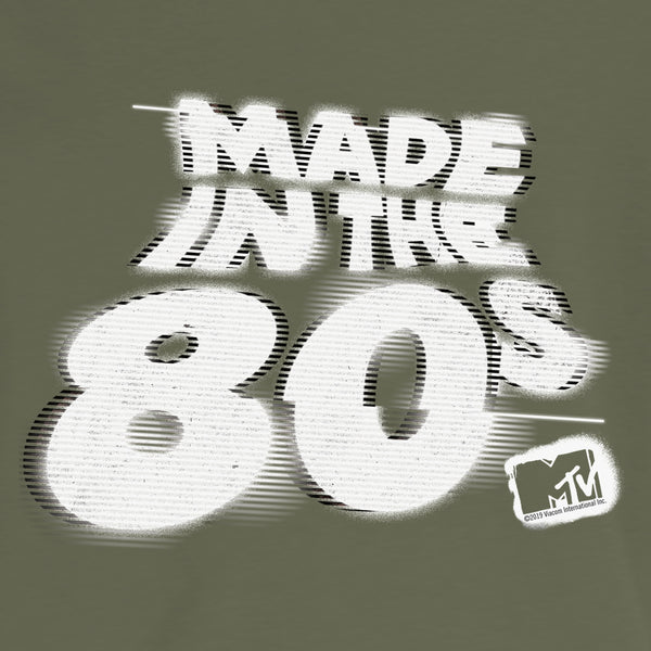 MTV Made in the 80s Glitch Crop Hoodie