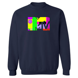 MTV Glitch Fleece Crewneck Sweatshirt