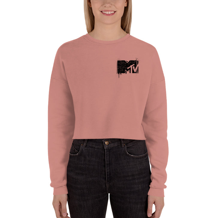 MTV Graffiti Crop Sweatshirt