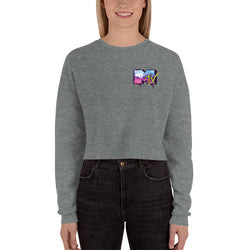 MTV NYC Graffiti Crop Sweatshirt