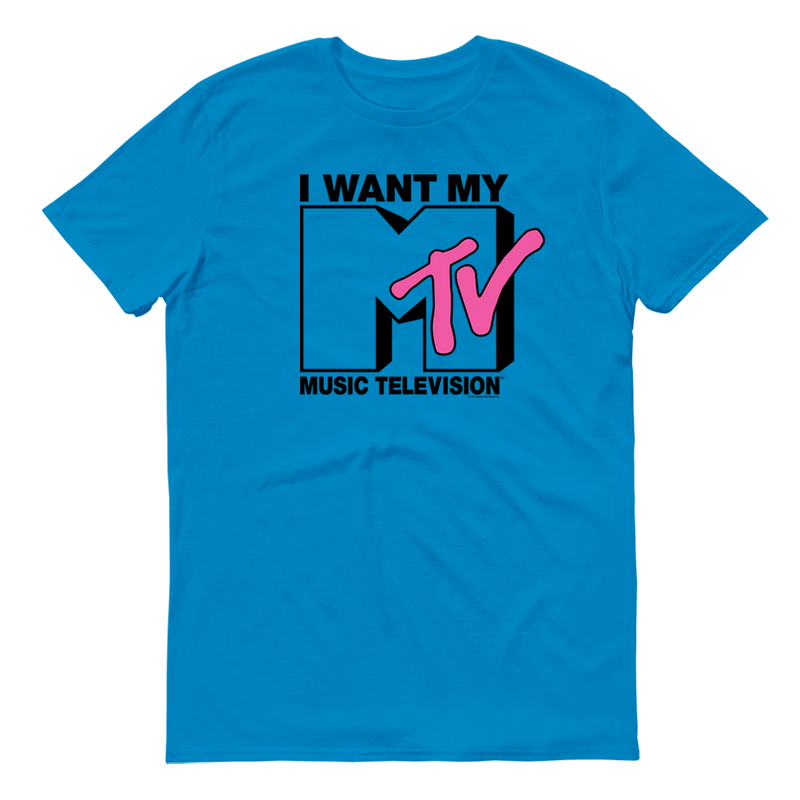MTV Gear I Want My With Classic MTV Logo Adult Short Sleeve T-Shirt