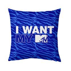 MTV Gear I Want My MTV Blue Pattern Throw Pillow
