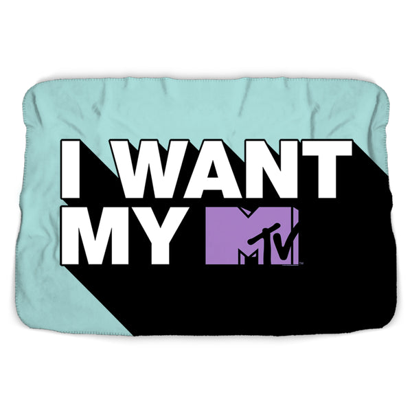 MTV Gear I Want My MTV Sherpa Blanket