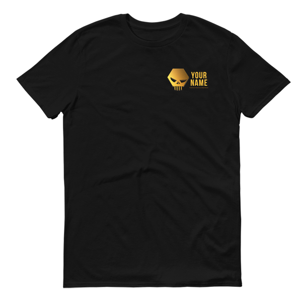 The Challenge Gold Skull Personalized Adult Short Sleeve T-Shirt