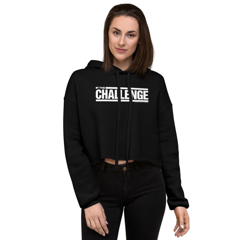 The Challenge Logo Women's Fleece Crop Hooded Sweatshirt