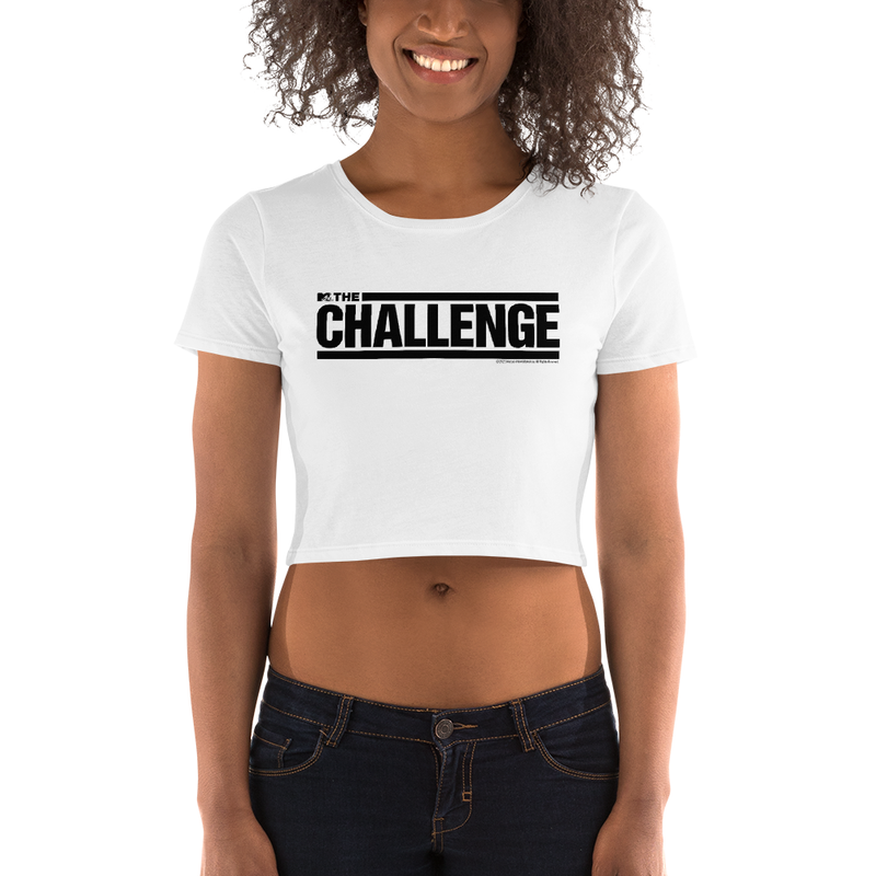 The Challenge Logo Women's All-Over Print Crop T-Shirt