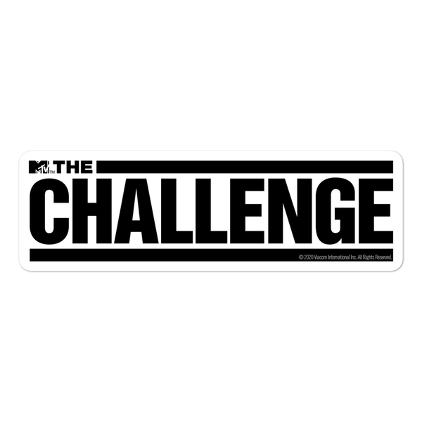 The Challenge Die Cut Sticker