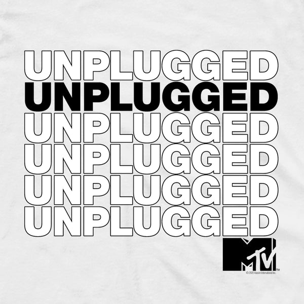 MTV Gear Stacked Unplugged 3/4 Sleeve Baseball T-Shirt
