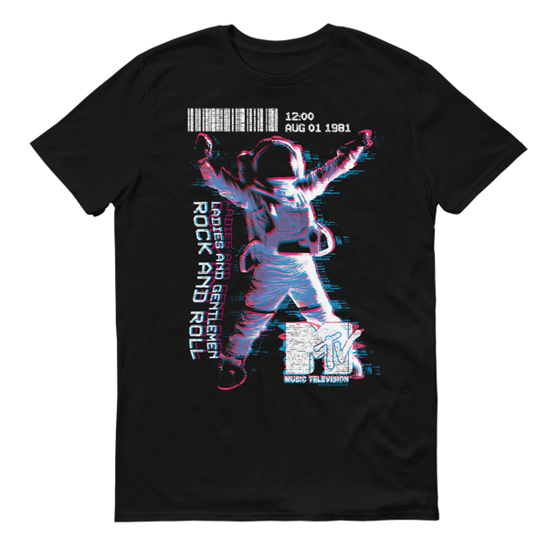 MTV VMA's Rock And Roll Moonman Adult Short Sleeve T-Shirt