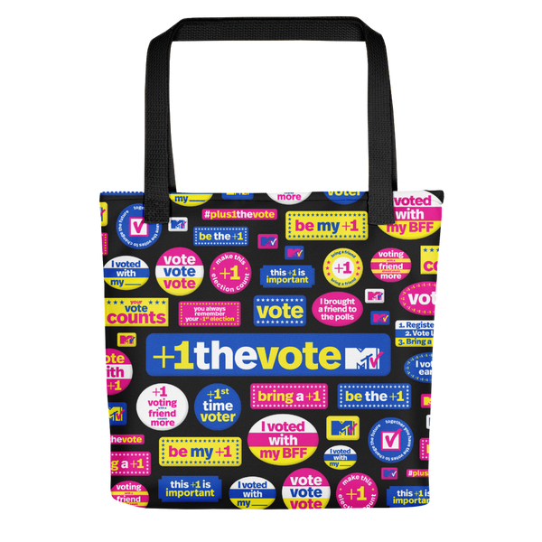MTV +1 The Vote Premium Tote Bag