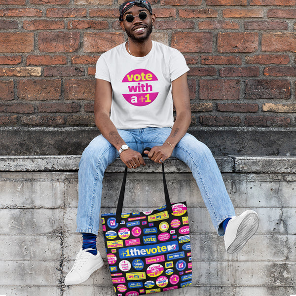 MTV +1 The Vote Tote Bag