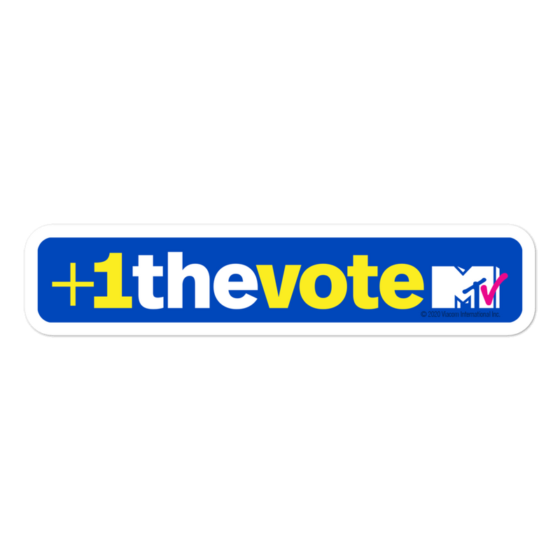 MTV +1 The Vote Die Cut Sticker