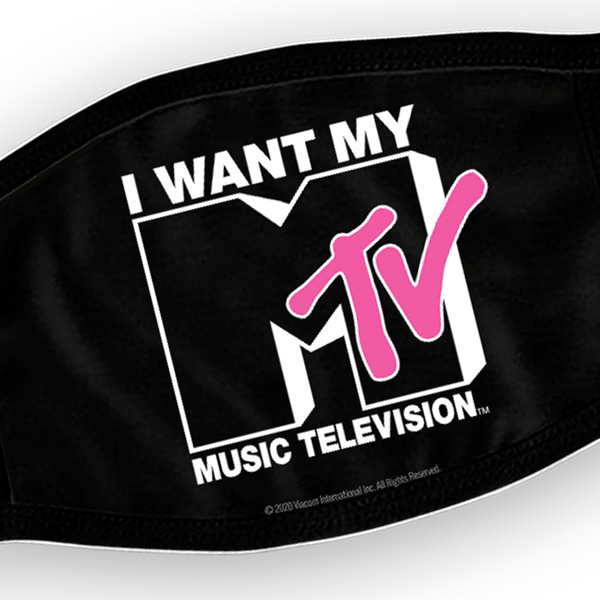 MTV I Want My MTV Washable Face Mask