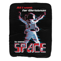 MTV Gear Christmas Space Sherpa Blanket