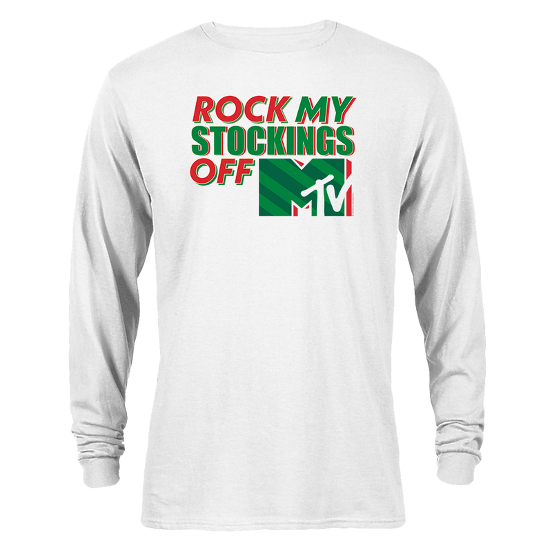 MTV Gear Rock My Stockings Off Adult Long Sleeve T-Shirt