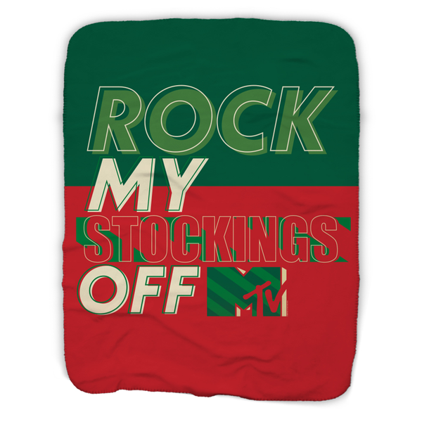 MTV Gear Rock My Stockings Off Sherpa Blanket