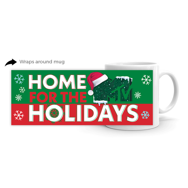 MTV Gear Home for the Holidays White Mug