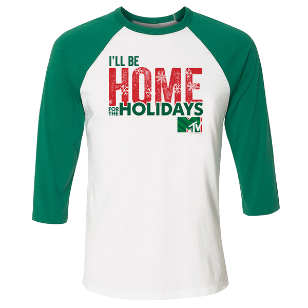 MTV Gear Home for the Holidays 3/4 Sleeve Baseball T-Shirt