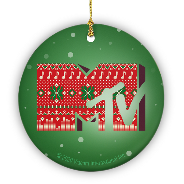 MTV Gear Holiday Logo Double-Sided Ornament