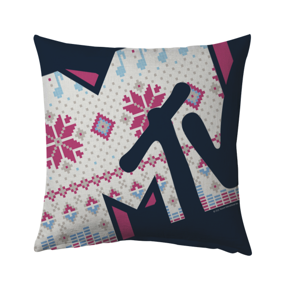 MTV Gear Holiday Logo Throw Pillow