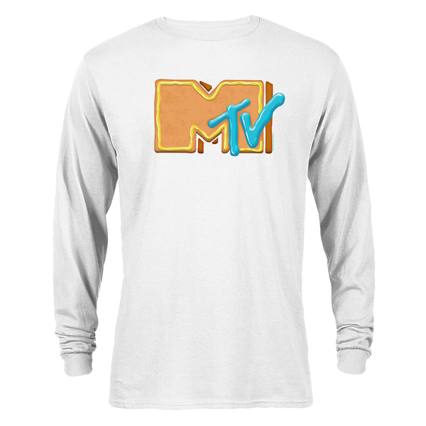 MTV Gear Gingerbread Logo Adult Long Sleeve T-Shirt