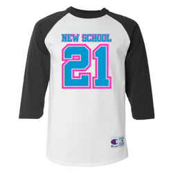 Wild 'N Out Neon New School 3/4 Sleeve Baseball T-shirt