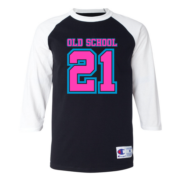 Wild 'N Out Neon Old School 3/4 Sleeve Baseball T-Shirt