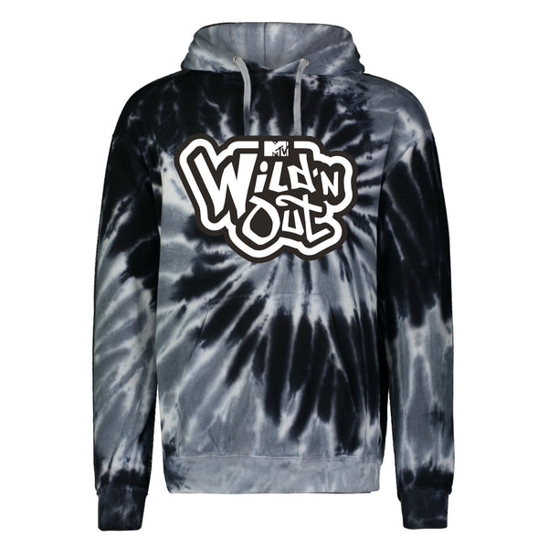 Wild 'N Out Black Tie Dye Hooded Sweatshirt